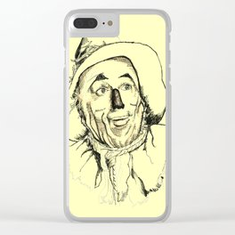 Scarecrow - Yellow Pathway Clear iPhone Case