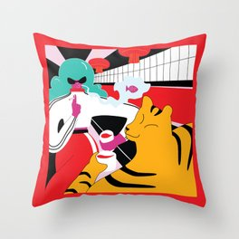 friday night out Throw Pillow