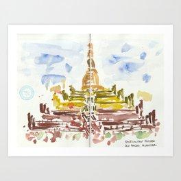 Shwesandaw Pagoda Art Print