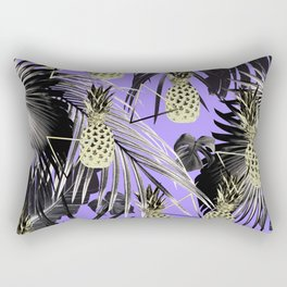 Tropical Pineapple Jungle Geo #4 #tropical #summer #decor #art #society6 Rectangular Pillow