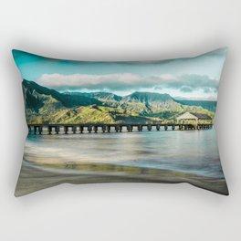 Sunrise at Hanalei Rectangular Pillow