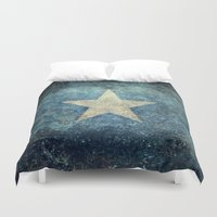 islam Duvet Covers featuring Somalian national flag - Vintage version by Bruce Stanfield