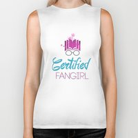 fangirl Biker Tanks featuring Certified Fangirl  by Abookutopia