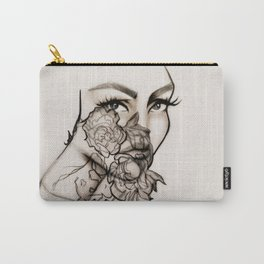 Woman, peonies and rebirth Carry-All Pouch