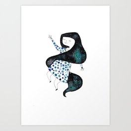 three of three sisters Art Print