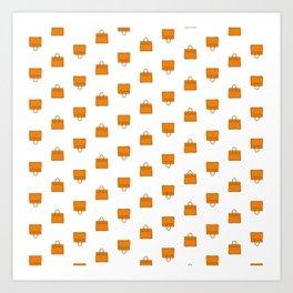 Orange Birkin Vibes High Fashion Purse Illustration Art Print