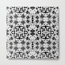 Geometrical  Og Pattern Optical Metal Print