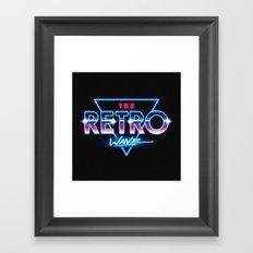 The Retro Wave Framed Art Print
