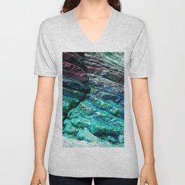 Coastal Crevice Turquoise  Unisex V-Neck