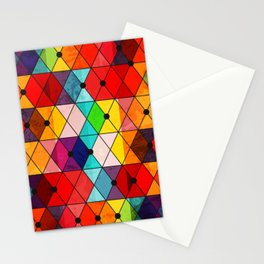 Colorful Mosaic Pattern Stationery Cards