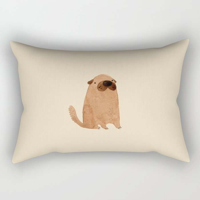 Brown Doggy Rectangular Pillow