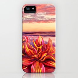 Radioactive flowers iPhone Case