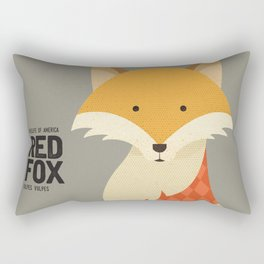 Hello Red Fox Rectangular Pillow