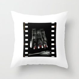 Cathedrale of Amiens Throw Pillow