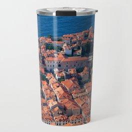 Dubrovnik Houses Aerial View Travel Mug