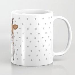 raccoon in deer hat Coffee Mug