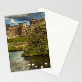Caerphilly Castle Western Towers Stationery Cards