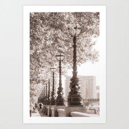 Leafy Promenade Art Print