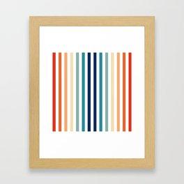 Mod Stripes Framed Art Print