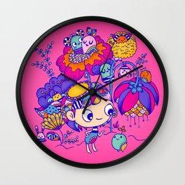 Flower Garden Friends Wall Clock