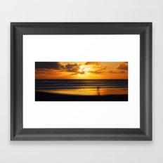 walking into the sunlight Framed Art Print