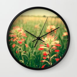Wild flowers! Wall Clock
