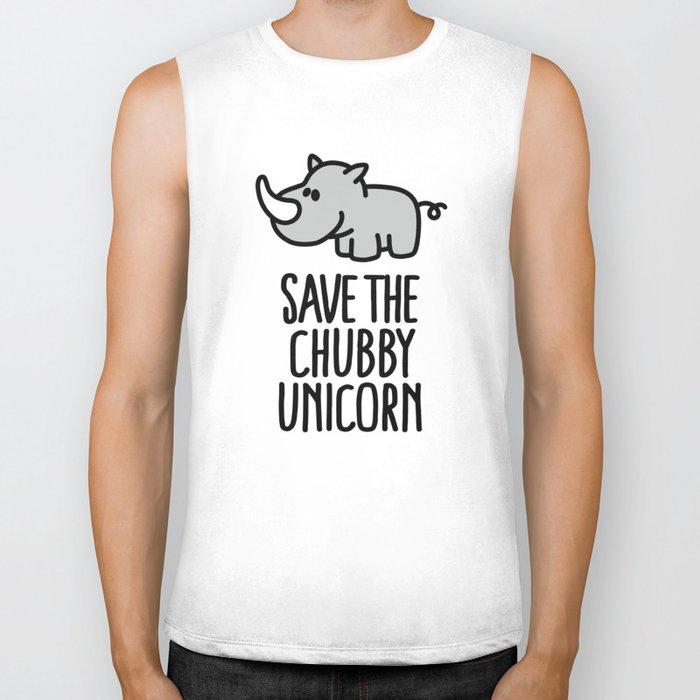 Save the chubby unicorn Biker Tank