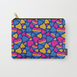 Pan Pride Hearts Pattern Carry-All Pouch
