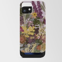 Pressed Flower English Garden iPhone Card Case
