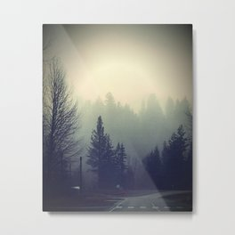 A Vintage Morning in the Fog Metal Print