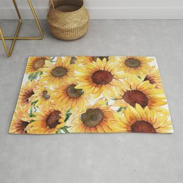 Sunflowers Bloom  Rug