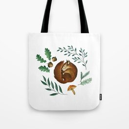 Sleepy Squirrel Tote Bag