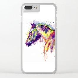 Majestic Horse Clear iPhone Case