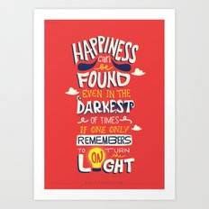 Dark and Light Art Print