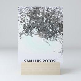 San Luis Potosí, San Luis Potosi, Mexico, White, City, Map Mini Art Print
