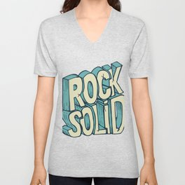Rock Solid drawing Unisex V-Neck