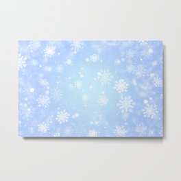 Winter snowflakes Metal Print