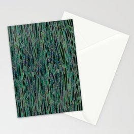 Vertical Forest Green Abstract Stationery Cards