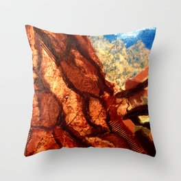 Mountain Collage Throw Pillow