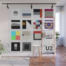 Minimalist U2's History - Grey Wall Mural