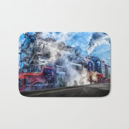 Steam Locomotive (Train) Bath Mat