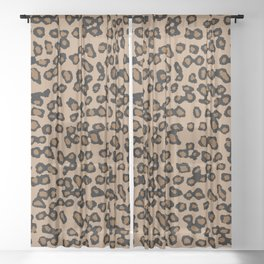 Digital Leopard Sheer Curtain