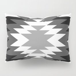 Aztec - black and white Pillow Sham