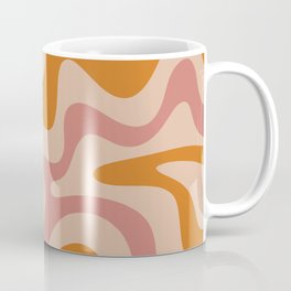 Liquid Swirl Abstract in Late Summer Orange and Pink Coffee Mug