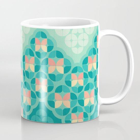Blue Garden Pattern Mug
