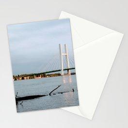Mississippi River at Burlington, Iowa Stationery Cards