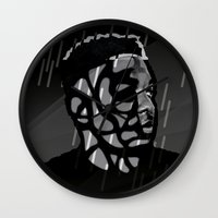 kendrick lamar Wall Clocks featuring Kendrick Lamar by Mr Mamu