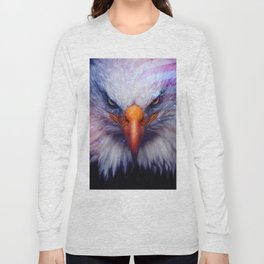 American Flag & Eagle Long Sleeve T-shirt