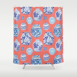 Chinoiserie Ginger Jar Collection No.4 Shower Curtain