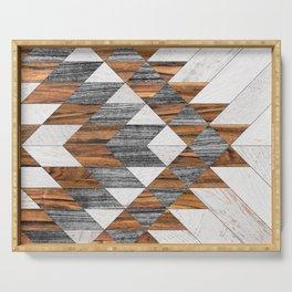 Urban Tribal Pattern 12 - Aztec - Wood Serving Tray